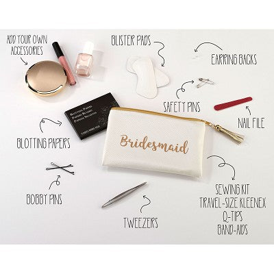 Lillian Rose Bridesmaid Gold Wedding Day Survival Kit