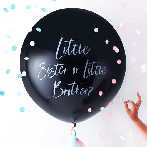 Ginger Ray Gender Reveal Little Brother or Sister Balloon
