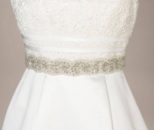 Lillian Rose Ivory Rhinestone and Pearl Bridal Belt