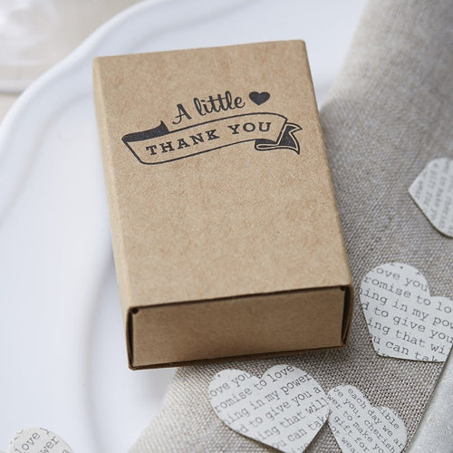 Ginger Ray Kraft Matchbox Favour Boxes