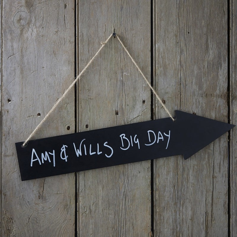 Ginger Ray Wooden Chalkboard Arrow