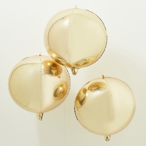 Ginger Ray Gold Balloon Orb