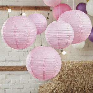Ginger Ray Baby Pink Paper Lantern Decorations