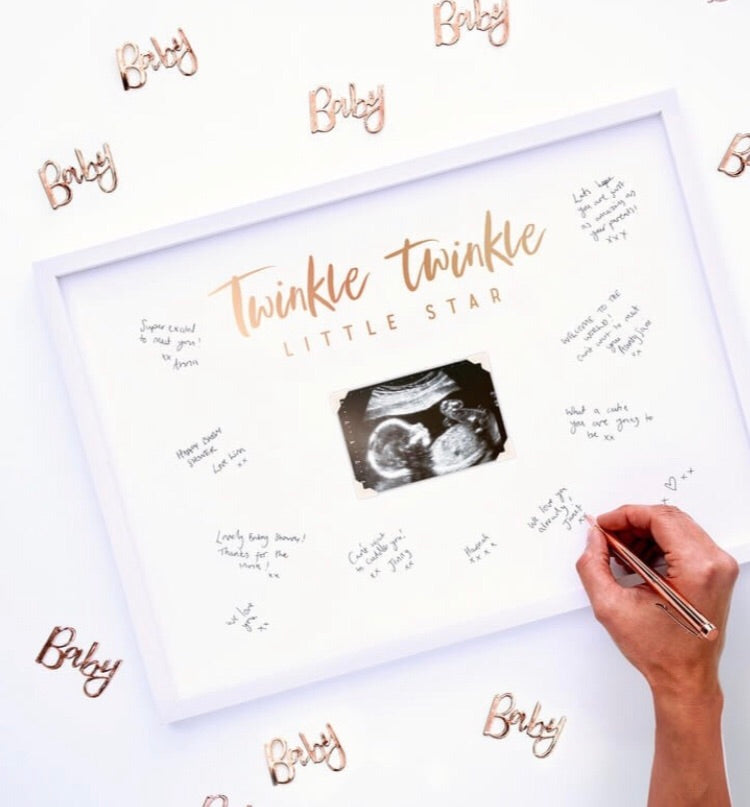 Ginger Ray Baby Shower Signing Frame