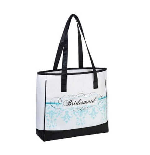 Lillian Rose Bridesmaid Aqua Tote Bag