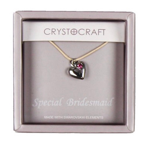 Crystocraft Necklace With Heart Charm Our Special Bridesmaid