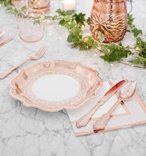 Load image into Gallery viewer, Talking Tables Party Porcelain Rose Gold Cutlery