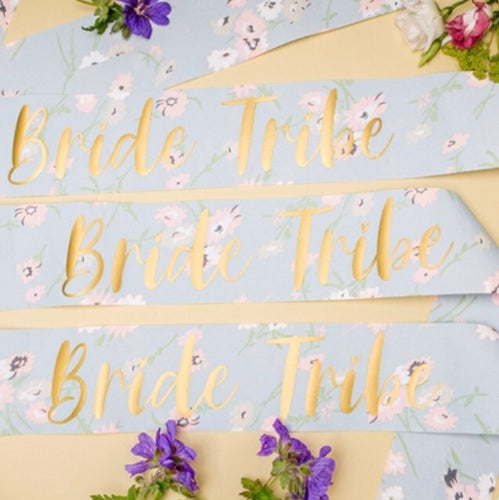 Nora & Katie Bride Tribe Sashes Set of 3