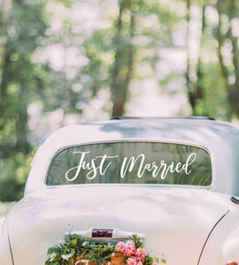 Ginger Ray Just Married Car Sticker