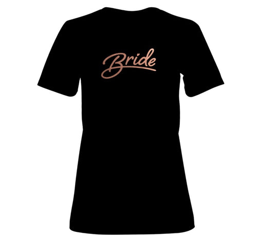 Bride Slogan Womens Black T-shirt