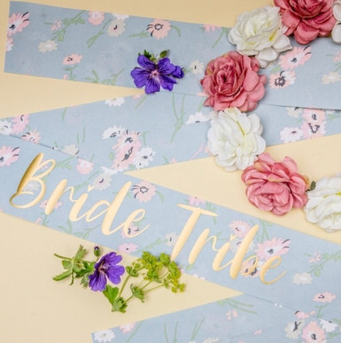 Nora & Katie Bride Tribe Sash & Crown Set