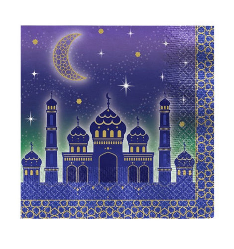 Eid Paper Napkins 33cm Pack of 16