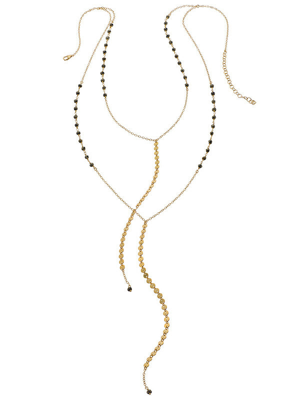 Double Lariat Y Necklace
