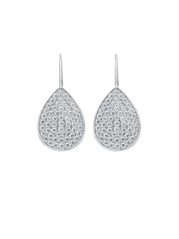 SALE Pave Teardrop Earrings