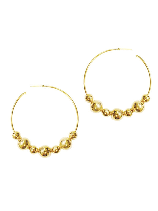 SALE Ball Hoop Earrings