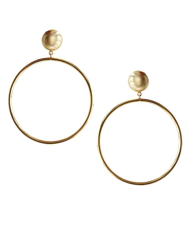 SALE Hoop Clip On Earrings