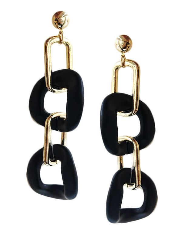 SALE Wood Link Earrings
