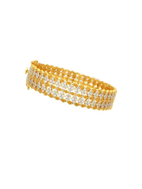 SALE Crystal Pattern Bangle