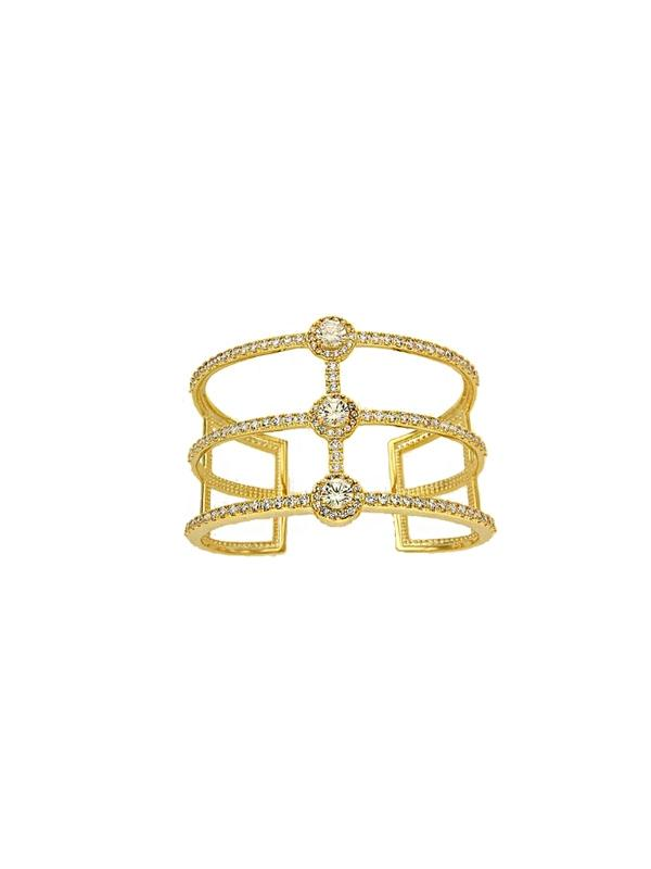 SALE Three Row Cuff Bracelet