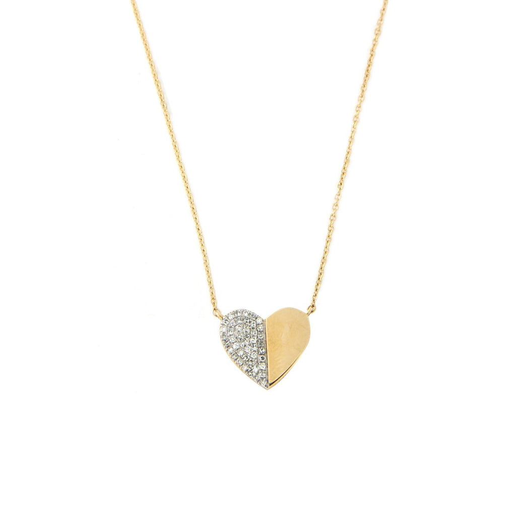Diamond Half Heart Necklace