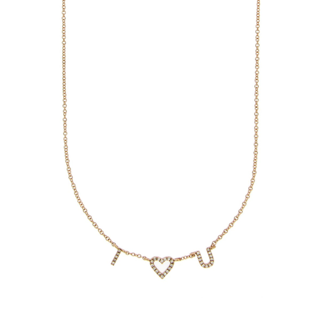 Diamond I Heart You Necklace