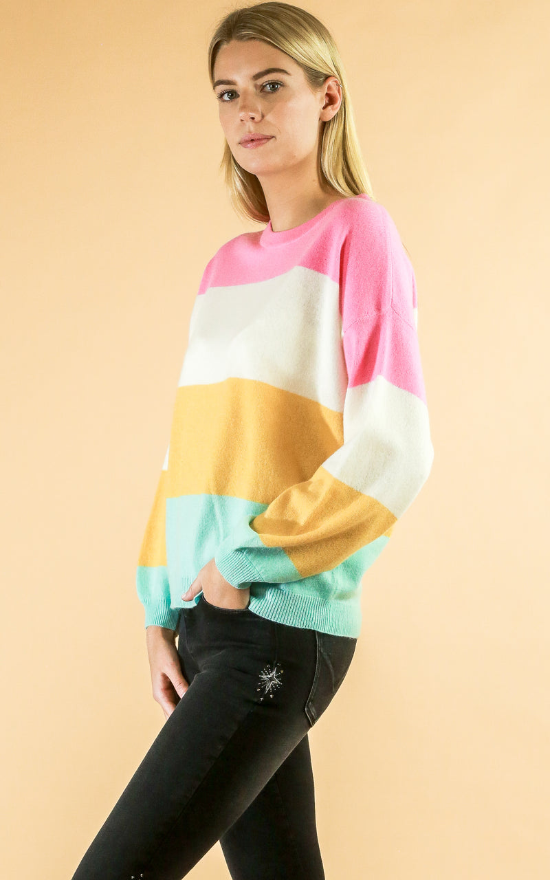 Colorful Stripe Sweater - Whiskey & Leather