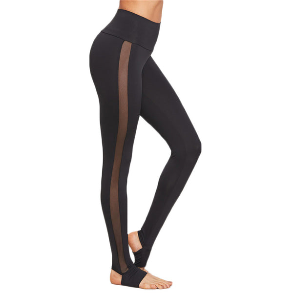 Breathable Mesh Splice Yoga Leggings