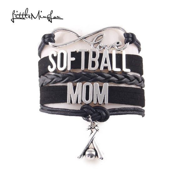 Softball Mom Infinity Bracelet