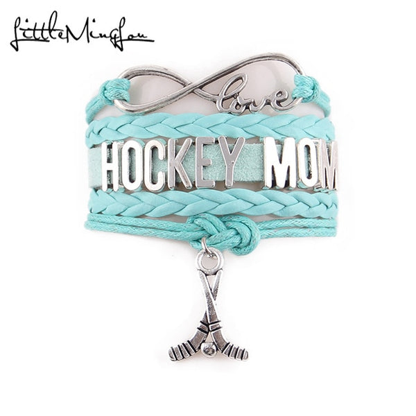 Hockey Mom Infinity Bracelet