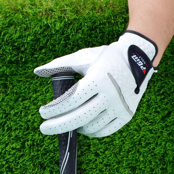 Aolikes Men's Golf Glove - Soft Breathable Pure Sheepskin With Anti-slip Granules