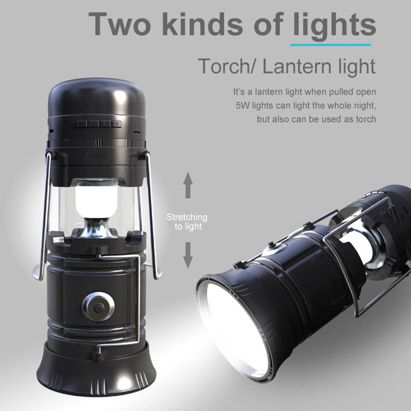Multifunction LED Camping Lantern w/ Speaker