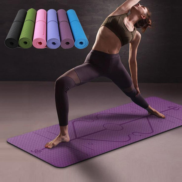 6mm TPE Yoga Mat with Position Line