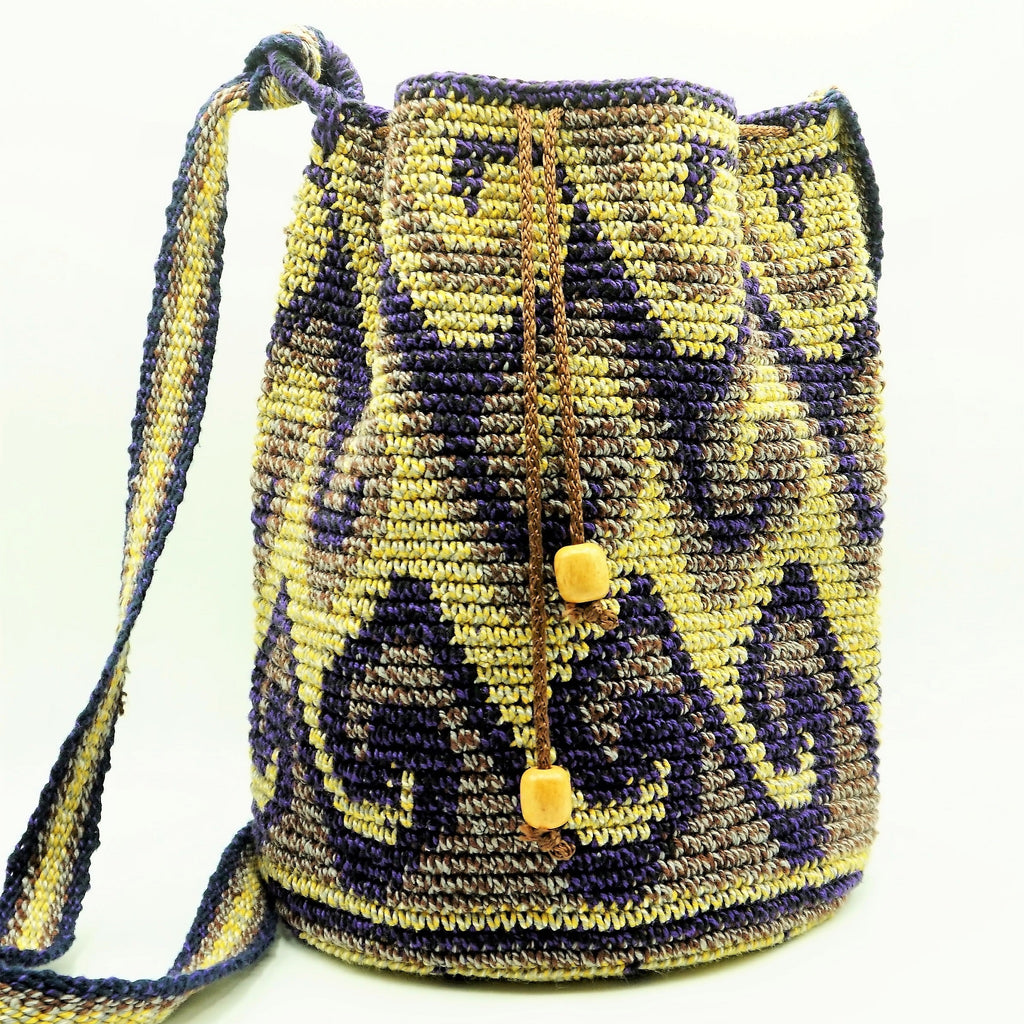 Hand Woven Bucket Bag - The Wolf In Me