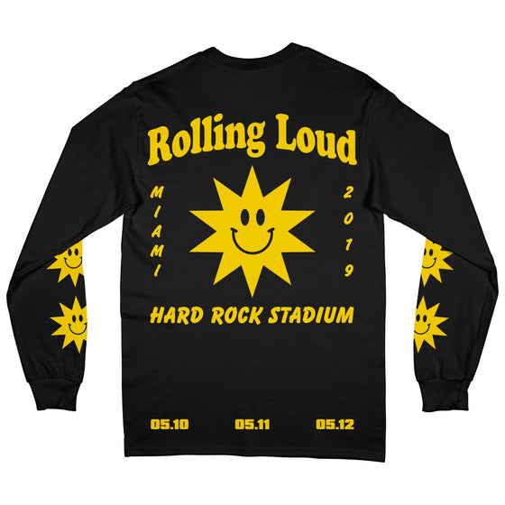Summer Sun Black Long Sleeve Tee