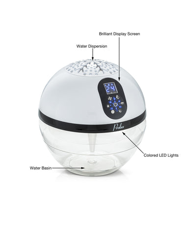 Touch Screen Prolux Water Based Air Purifying Humidifier & Aromatherapy Diffuser