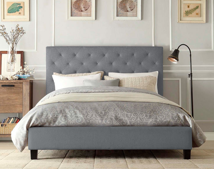 Marco Fabric Bed Frame (Grey)