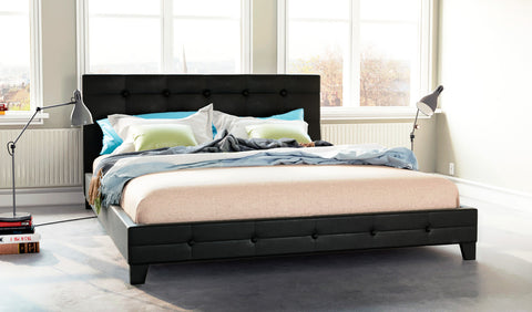 Stockholm PU Leather Bed Frame (Black)