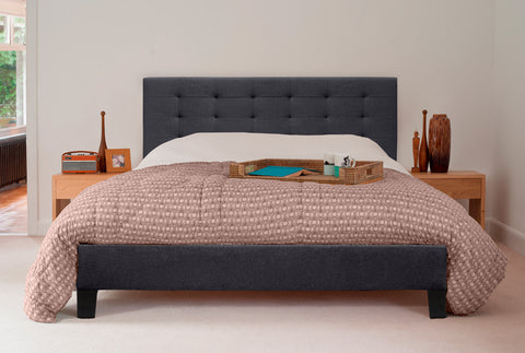 Kensington Fabric Bed Frame (Charcoal)