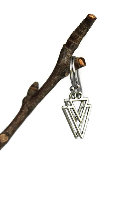 Inverted Double Triangle Dangle Earrings