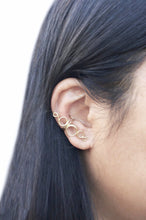 Load image into Gallery viewer, 14K Gold Filled Ear Cuff Hollow Open Loops No Piercing Fake Earring Wire Conch