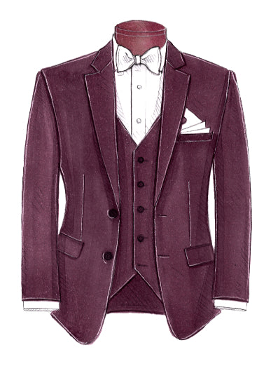 Burgundy Liberty By Kenneth Cole - Miguel's Men's Wear