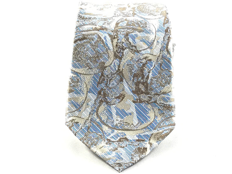 Blue And Gold Paisley Silk Tie - Miguel's Men's Wear