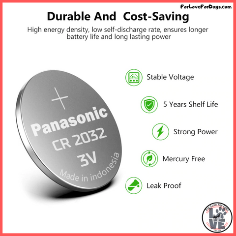 FLFD - Panasonic CR2032 3v Button Cell Coin Batteries forlovefordogs jewelry and much more
