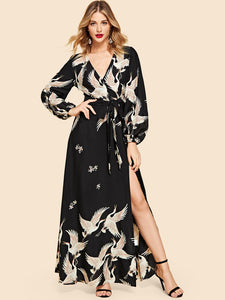 Belted Maxi Dress - hashtag
