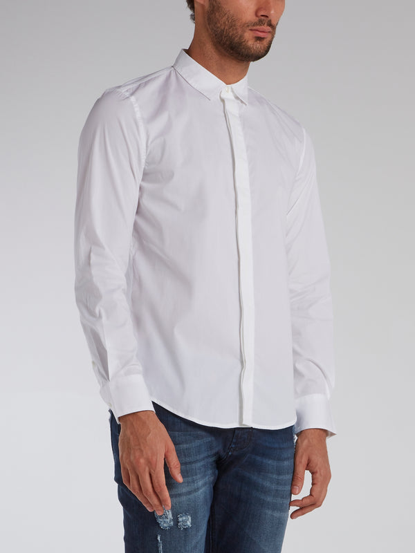 White Logo Tape Shirt