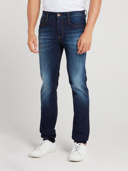 Straight Fit Denim Wash Jeans