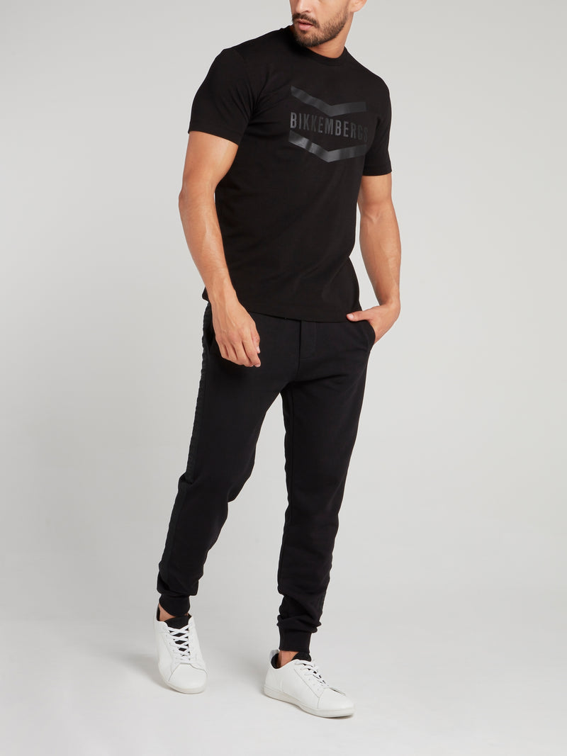 Black Logo Chevron T-Shirt