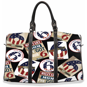 "Military Mom ""I've got your six"" -Travel Bags"