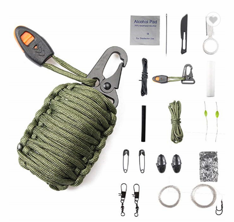 14 in 1 Paracord Survival Kit