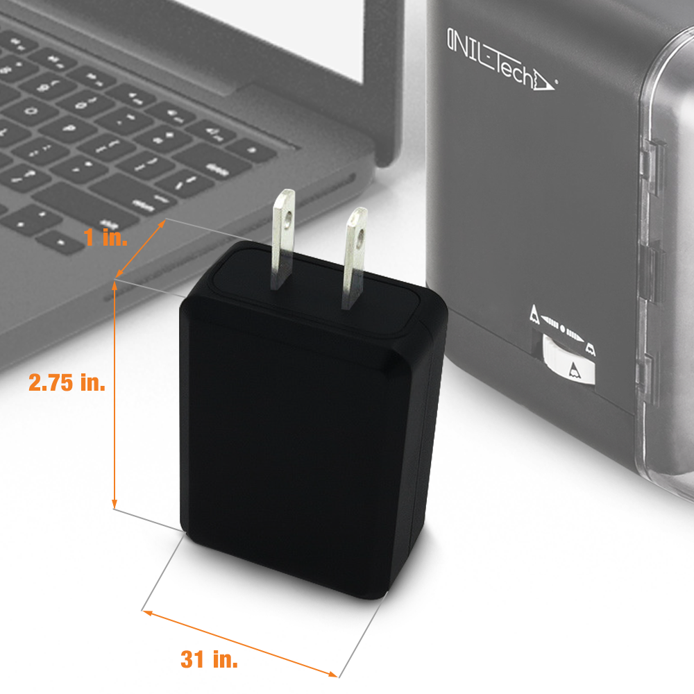 One-Port USB Wall Charger 5V 2 Amp - Black